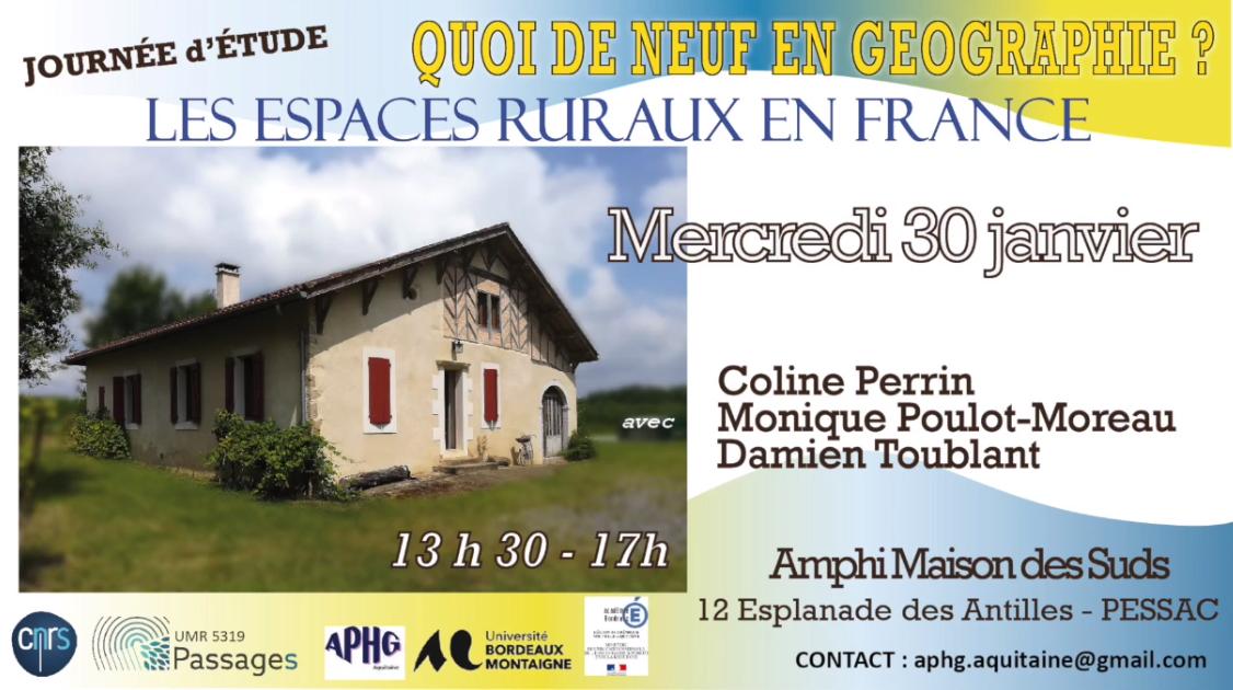 Les espaces ruraux en France : trois conférences filmées