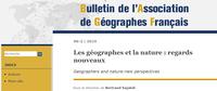 Un numéro du BAGF : Les géographes et la nature