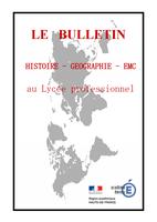 Bulletin numérique histoire, géographie et EMC au lycée professionnel