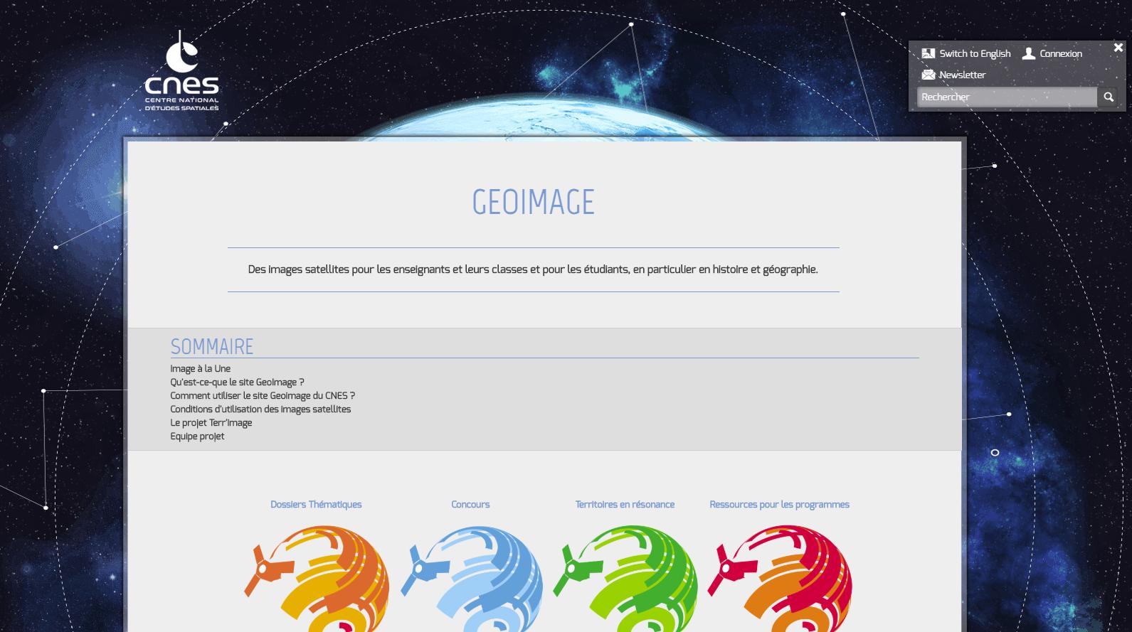 De nouvelles ressources en lien avec les programmes sur Géoimage (CNES)