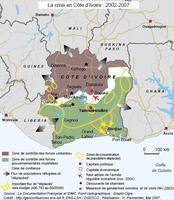La crise ivoirienne par les cartes
