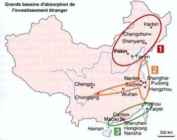 Trois macro-régions ont une vocation et un lien particulier avec les