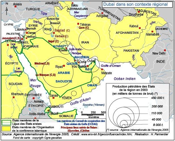 dubai carte geographique - Image