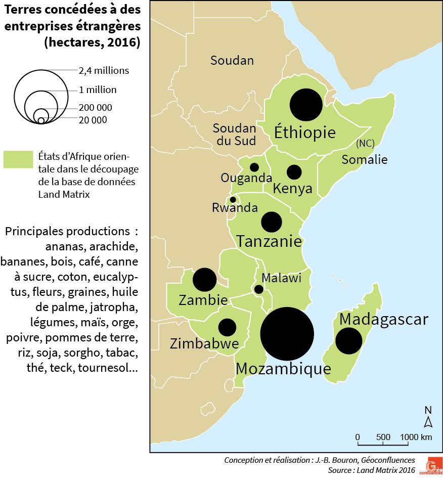 carte land grab afrique orientale