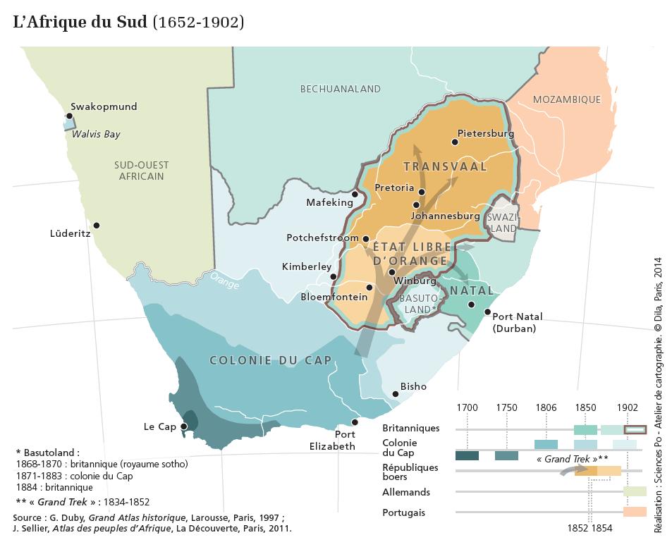 Histoire de l'Afrique Australe XVIIe XXe siècles - Carte
