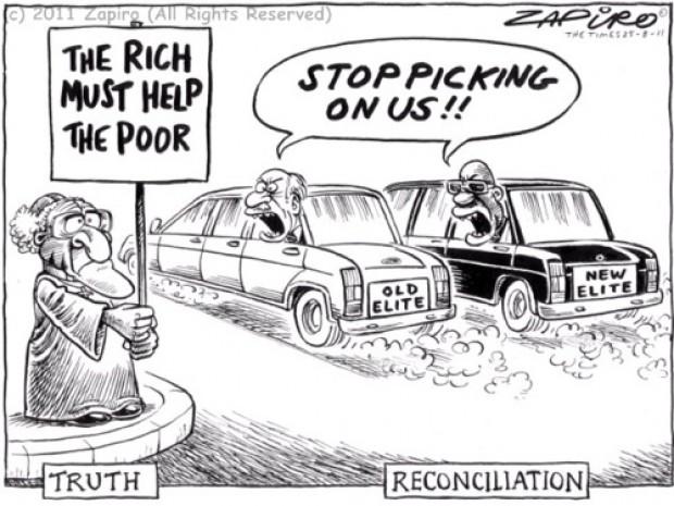 vérité et réconciliation Zapiro caricature