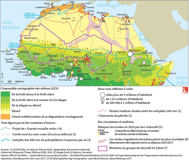 Carte de Jean-Benoît Bouron — Sahara Sahel carte de synthèse
