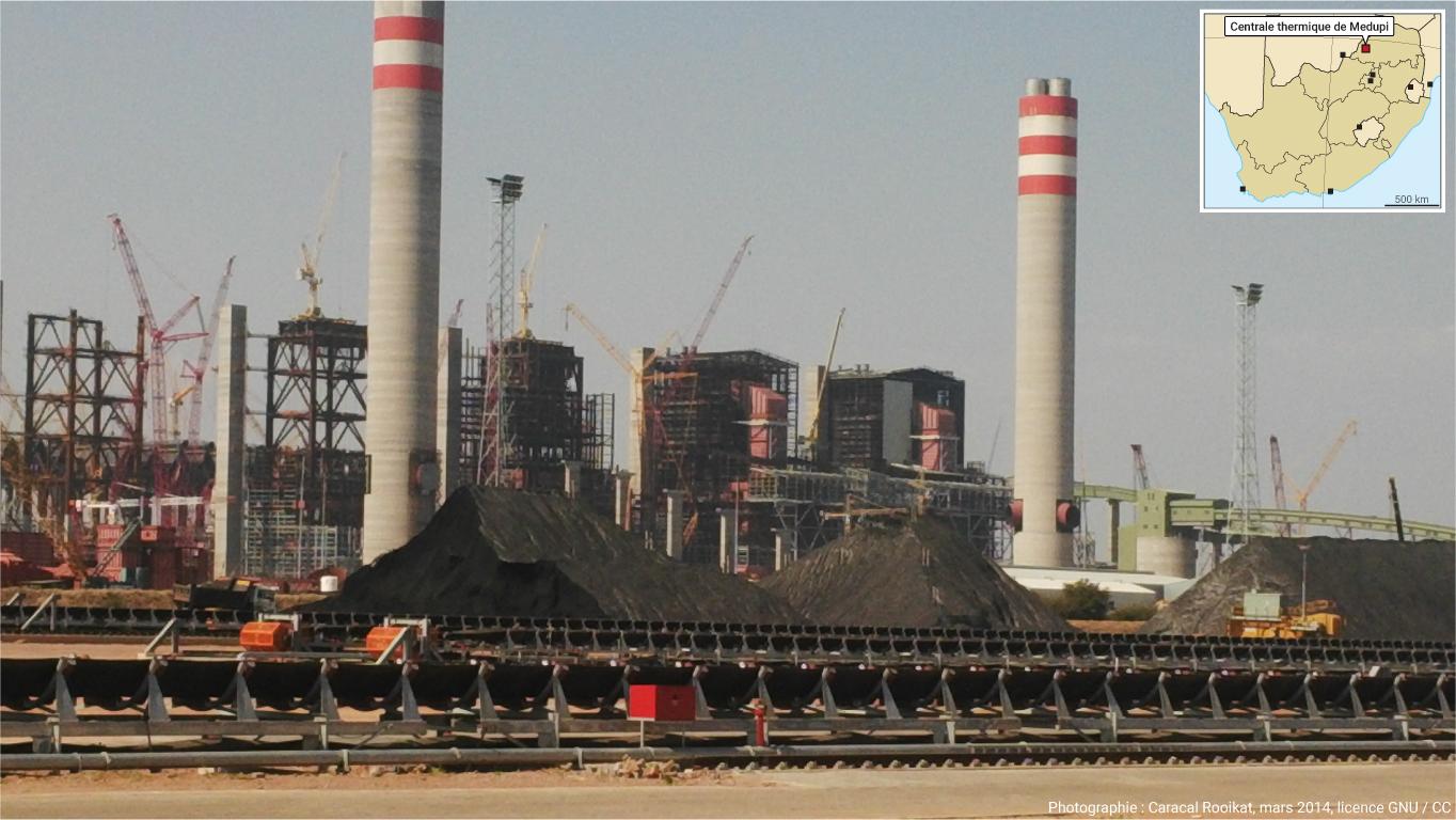 Photographie centrale à charbon de Medupi Afrique du Sud
