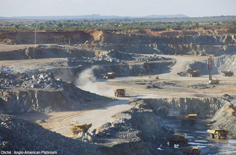 photographie de la mine de platine de Mogalakwena (Anglo American Platinium
