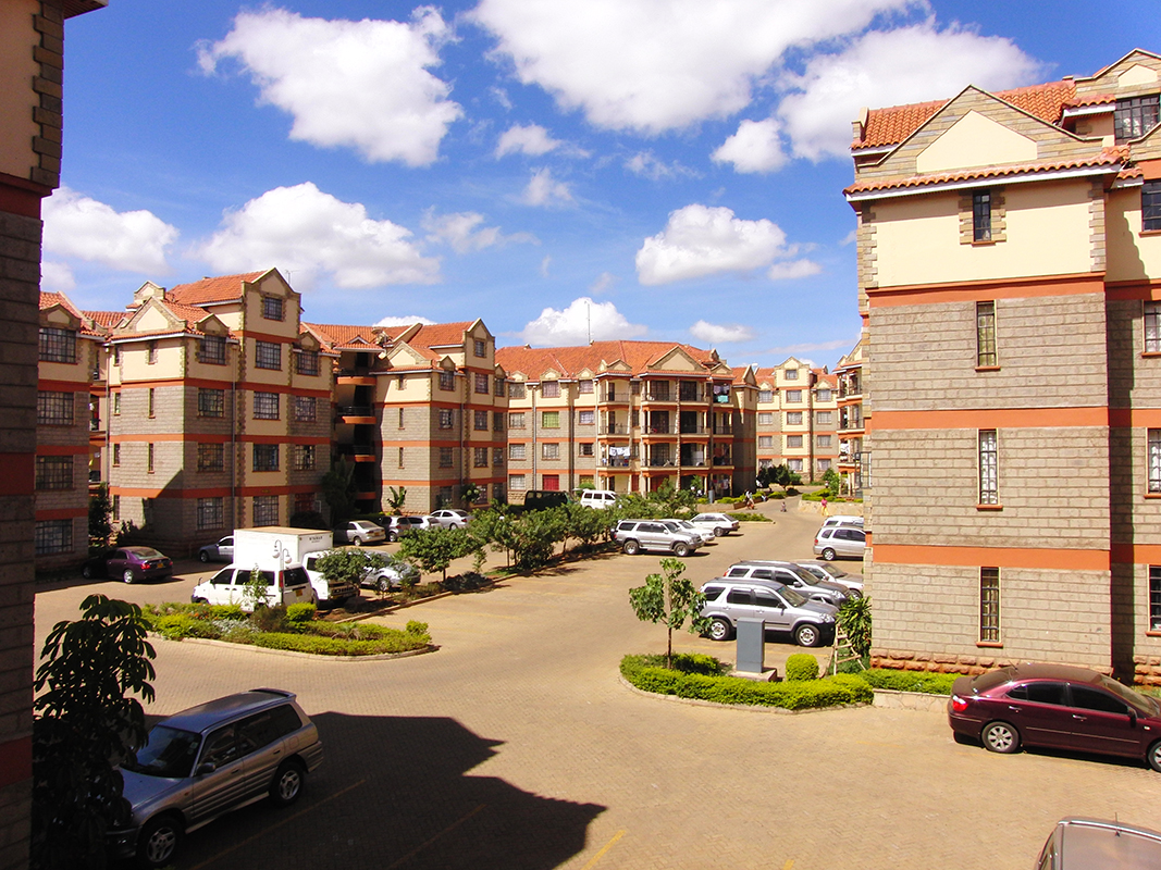 photo compound quartier résidentiel fermé gated community Nairobi Kenya Afrique
