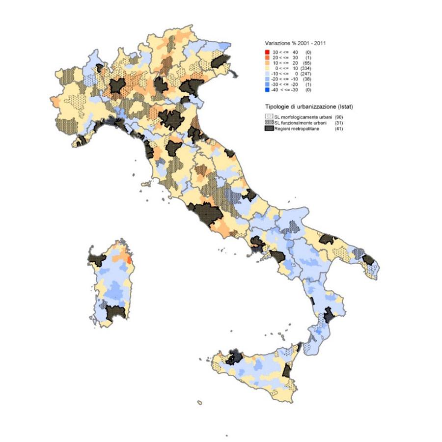 Fabio Amato e Carlo Salone carta variazione popolazione italia