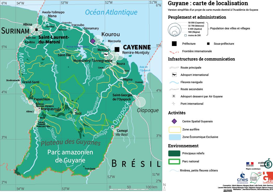 Carte de localisation Guyane