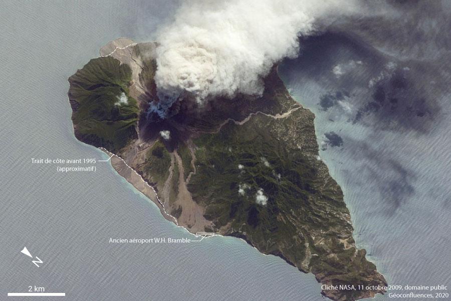 photographie éruption Montserrat — NASA