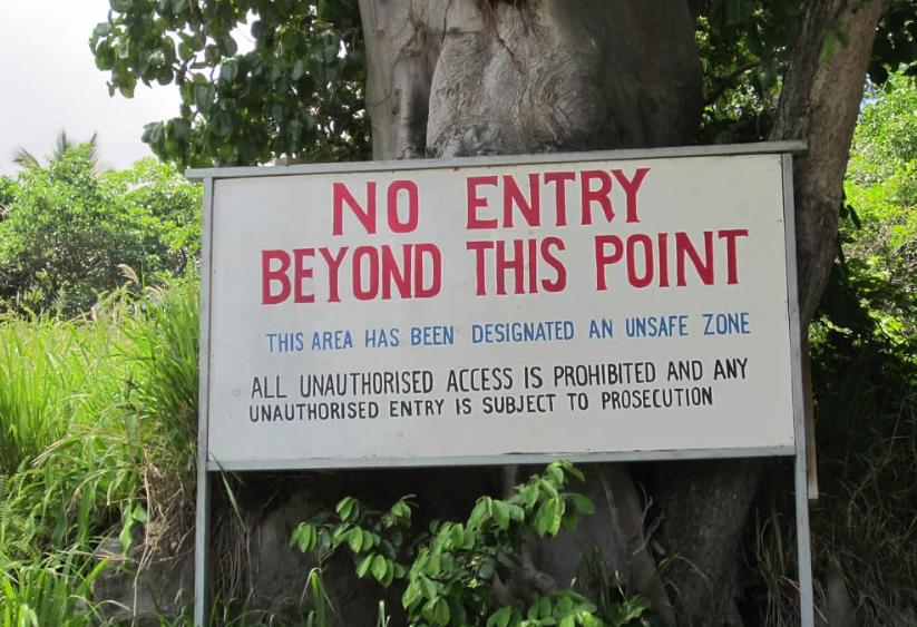 photographie zone interdite Montserrat — David Stanley