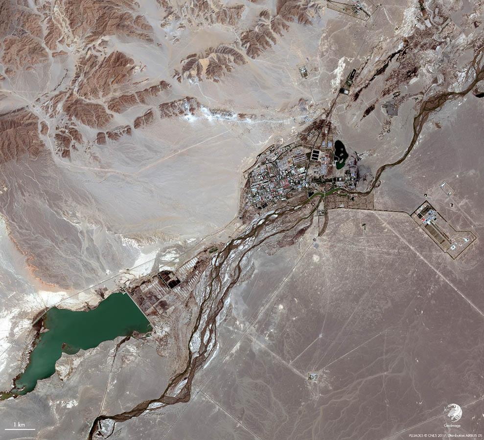 base de Jiuquan en Chine image satellite