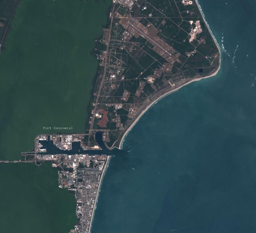 Port Canaveral — image satellite CNES