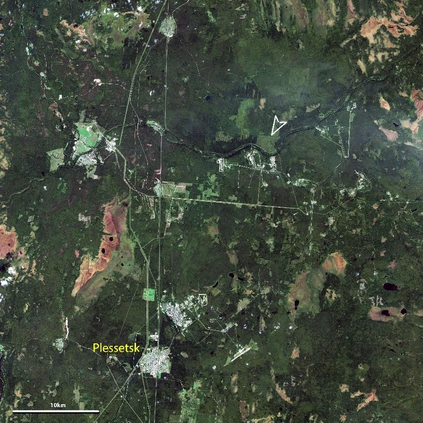 base de Plessetsk — image satellite CNES