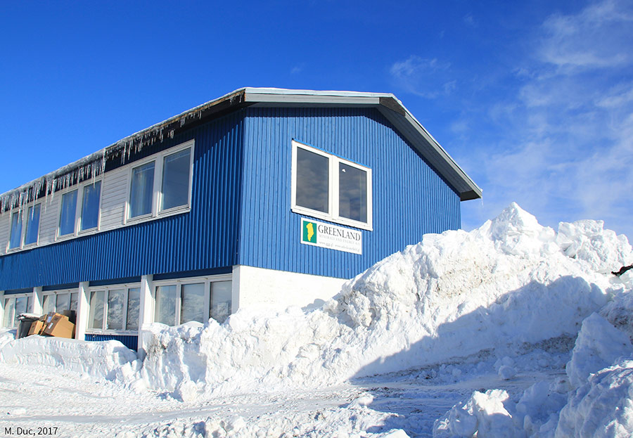 Marine Duc — photographie siège de GME au Groenland