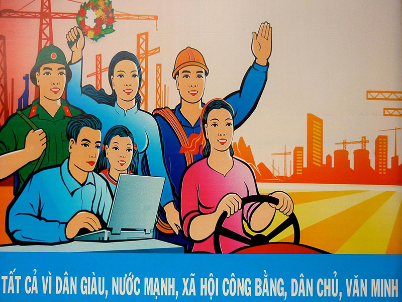 Affiche de propagande actuelle vietnamienne