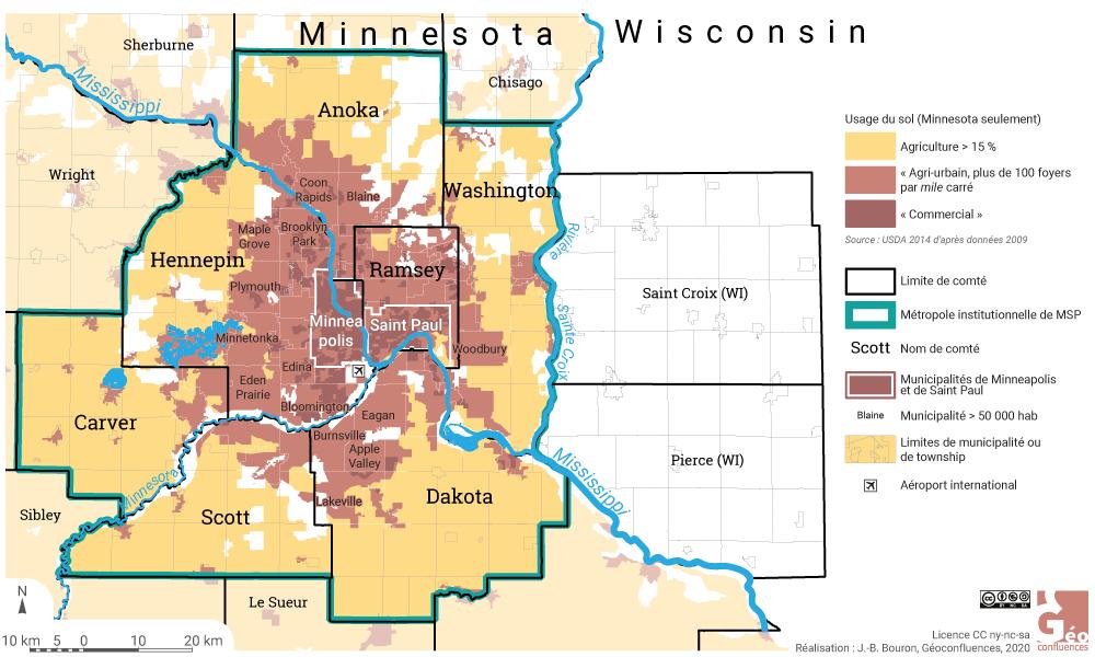 Minneapolis Saint Paul urbanisation dans la métropole