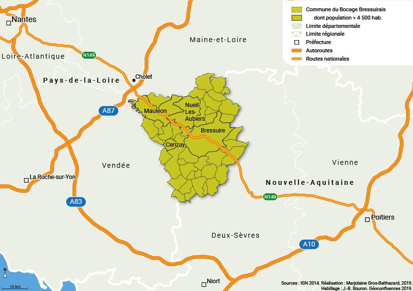 Gros-Balthazard — Localisation du bocage bressuirais