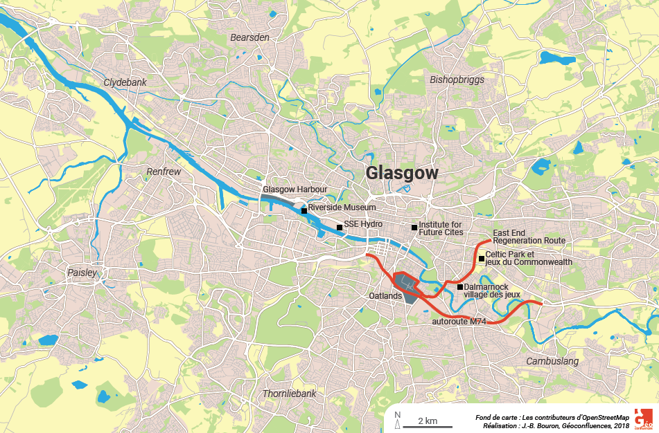 Glasgow regeneration map