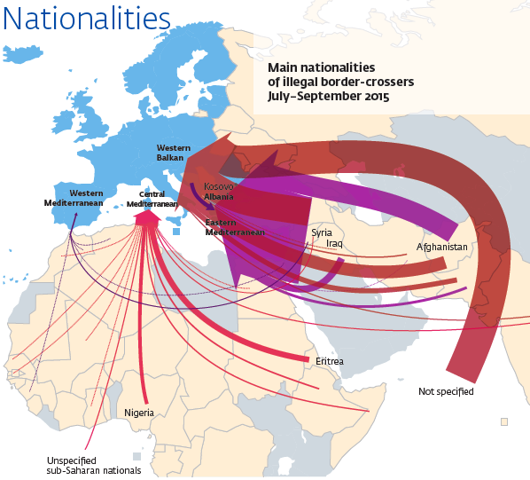 Frontex, carte de propagande
