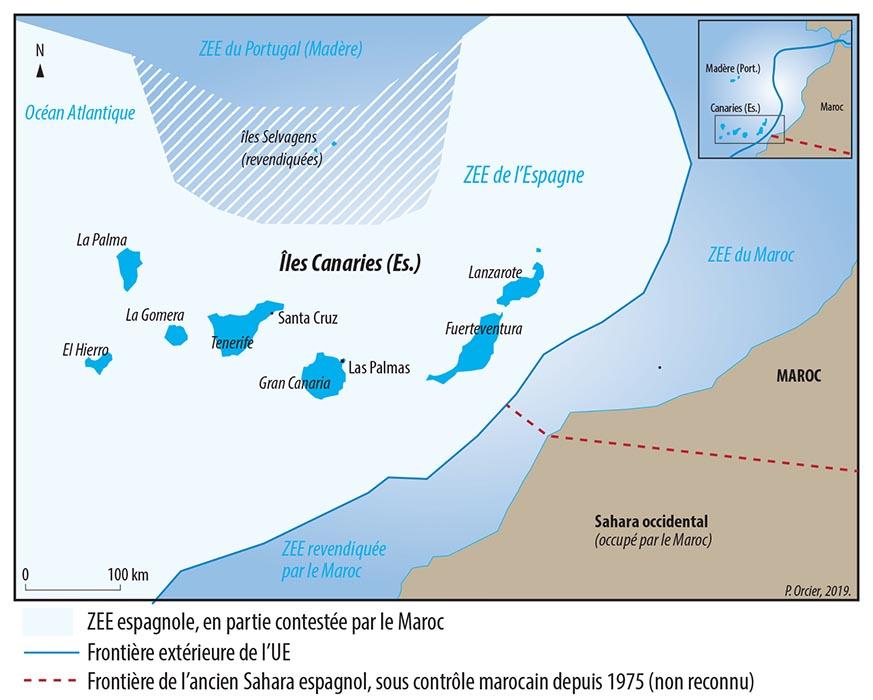 Pascal Orcier — Carte frontières Canaries