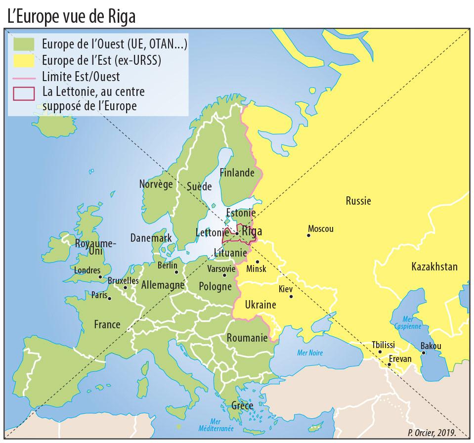 Pascal Orcier — Carte: L'Europe vue de Lettonie