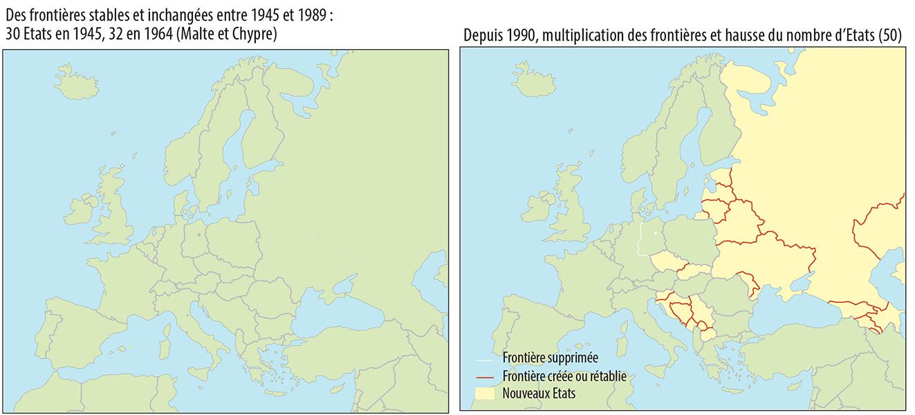 Pascal Orcier — Carte: changement de frontières en Europe