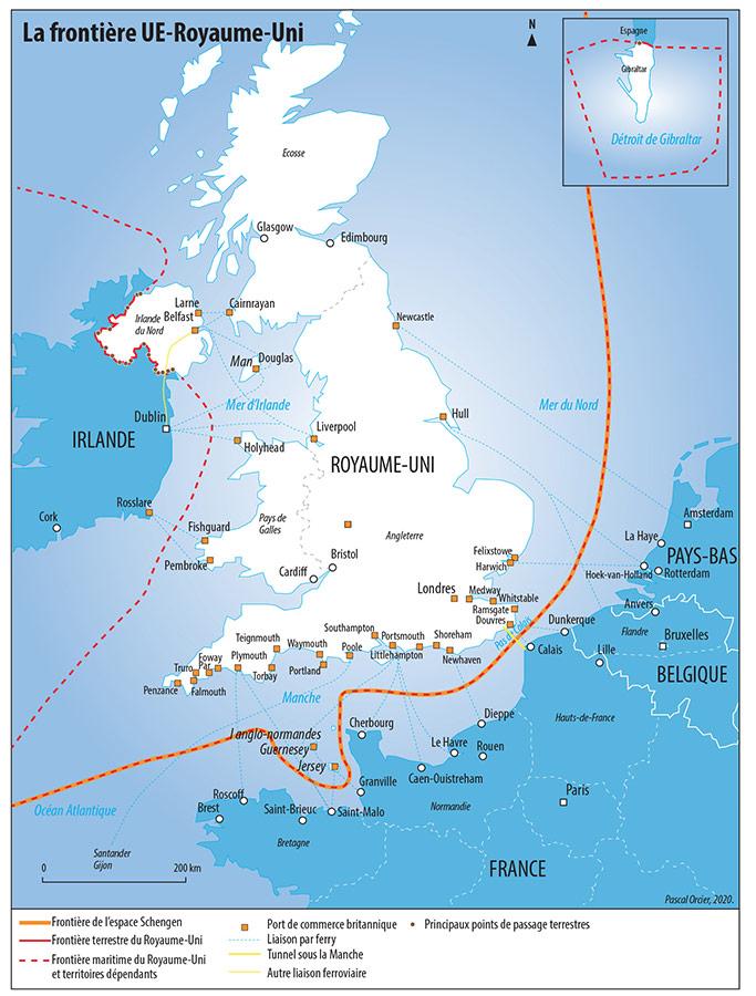 Pascal Orcier — carte frontière UE Royaume Uni