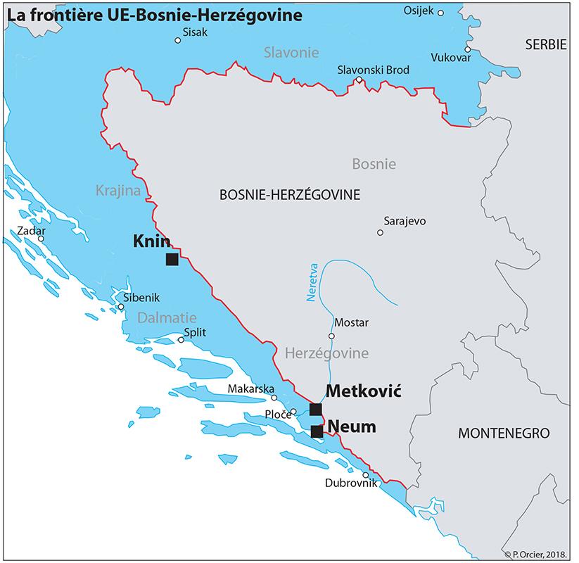 Pascal Orcier — carte frontière UE Bosnie Herzégovine