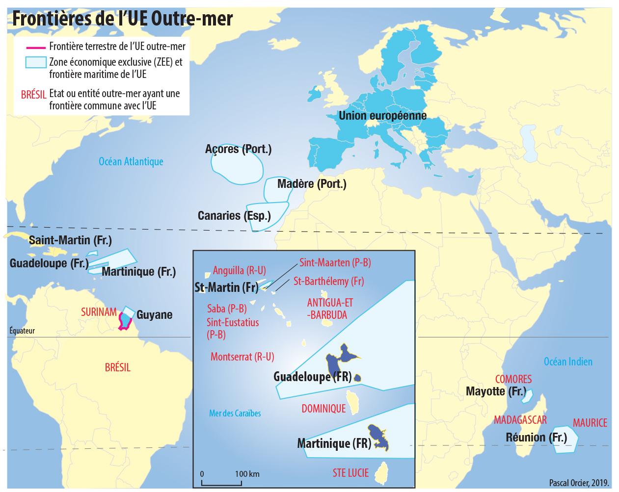 Pascal Orcier — Carte frontières ultramarines de l'UE