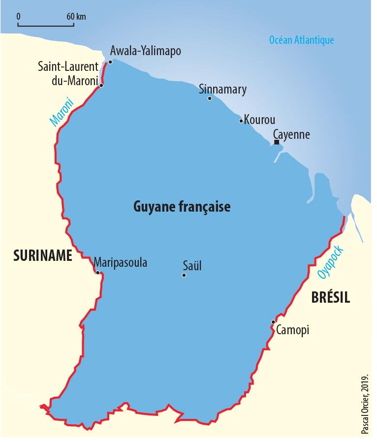 Pascal Orcier — Carte frontières guyanaises