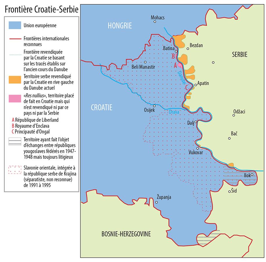 Pascal Orcier — carte frontière Serbie Croatie