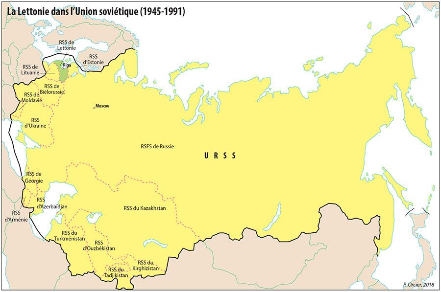 Pascal Orcier — Carte: Lettonie dans l'URSS