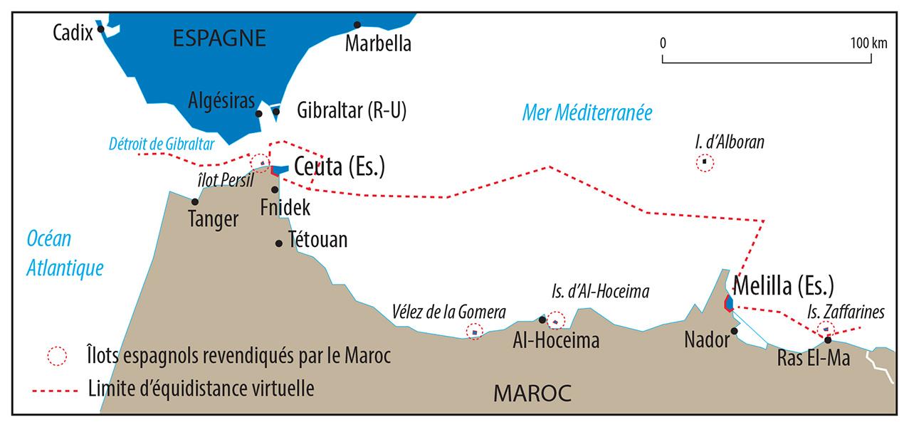 Pascal Orcier — carte frontière Maroc Espagne