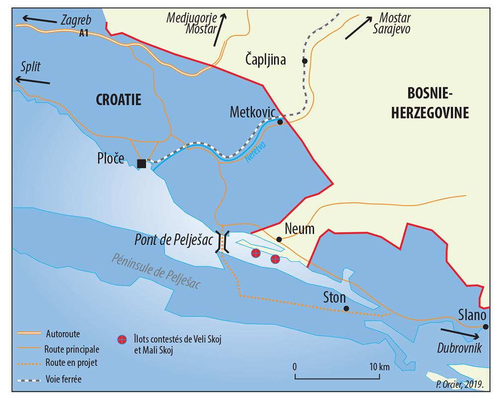 Pascal Orcier — carte frontière Croatie Bosnie Herzégovine