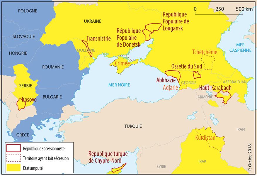 Pascal Orcier — Carte: républiques sécessionnistes