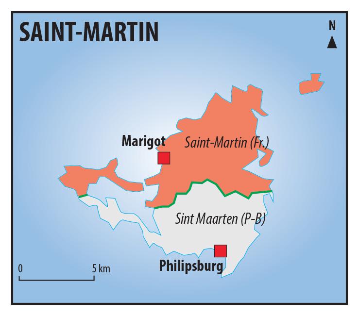 Pascal Orcier — Carte frontière Saint Martin