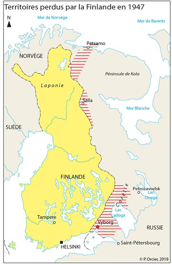 Pascal Orcier — carte territoires perdus de la Finlande