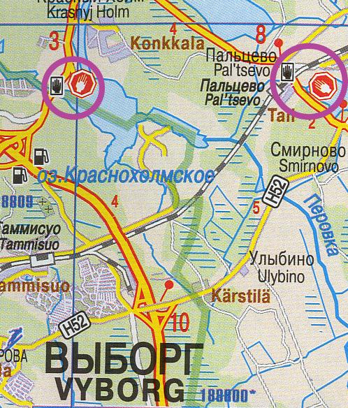 extrait de carte Vyborg