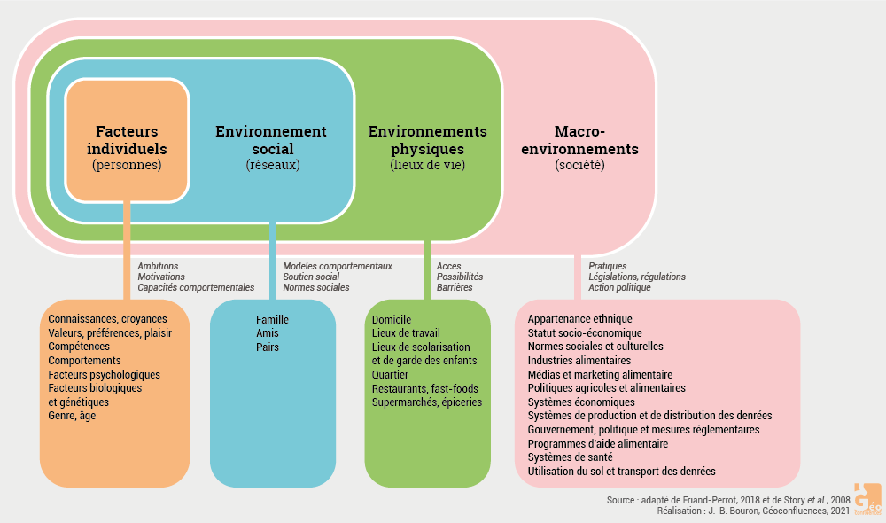 Schéma environnements alimentaires