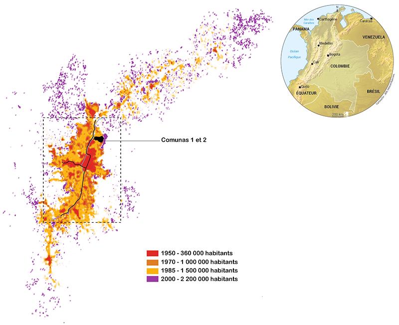 Camille Reiss — Croissance urbaine à Medellin Colombie carte