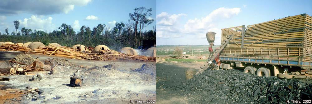 Hervé Théry — photographie production du charbon de bois Brésil