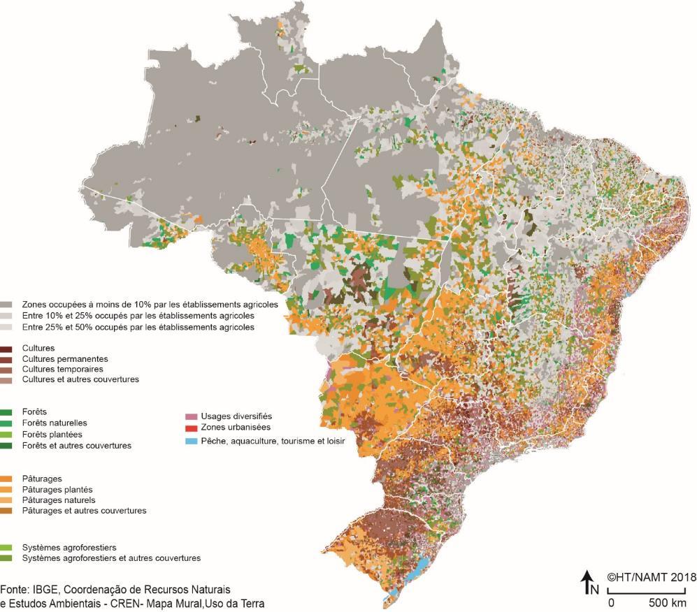 Hervé Théry — Carte occupation des sols Brésil 2018