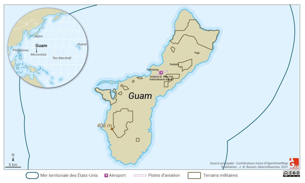 guam map — carte de Guam