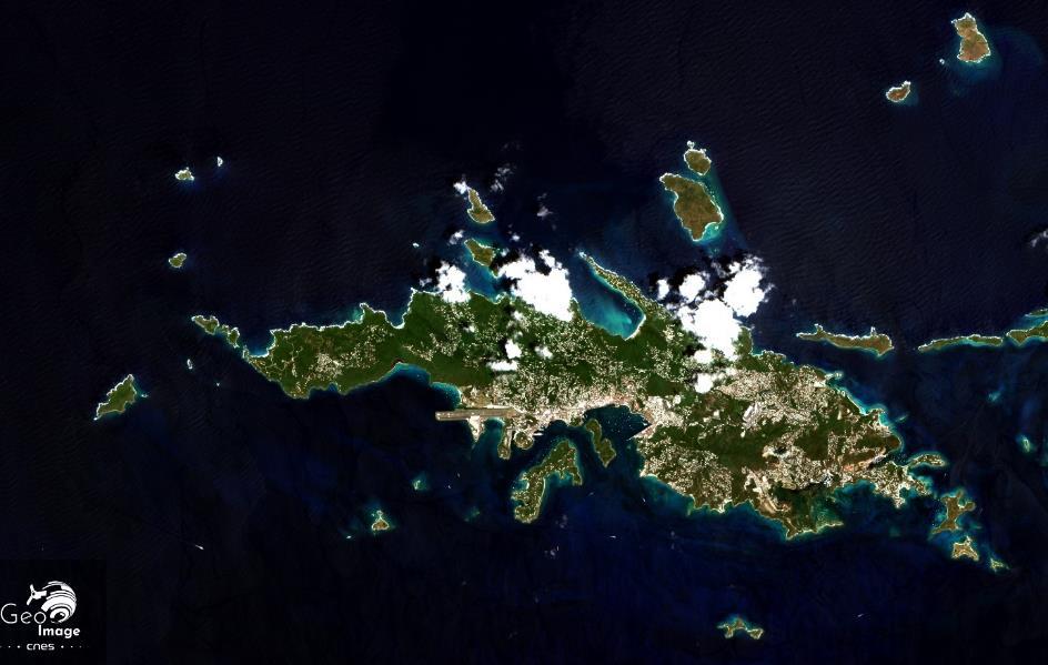 Saint Thomas map — carte de l'ile de Saint Thomas
