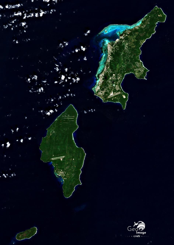 image satellite Mariannes du Nord Cnes