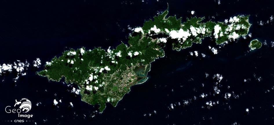 image satellite Tutuila Cnes
